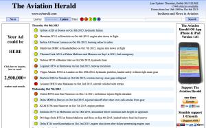 AVHERALD's webpage