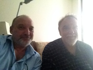 Tim van Beveren (l) and Chris Winder (r) on 22. Jan 2014 at Mr. Winders home in Sydney